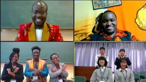 100年構想生と京都すばる高校生らがオンラインクイズ大会を開催