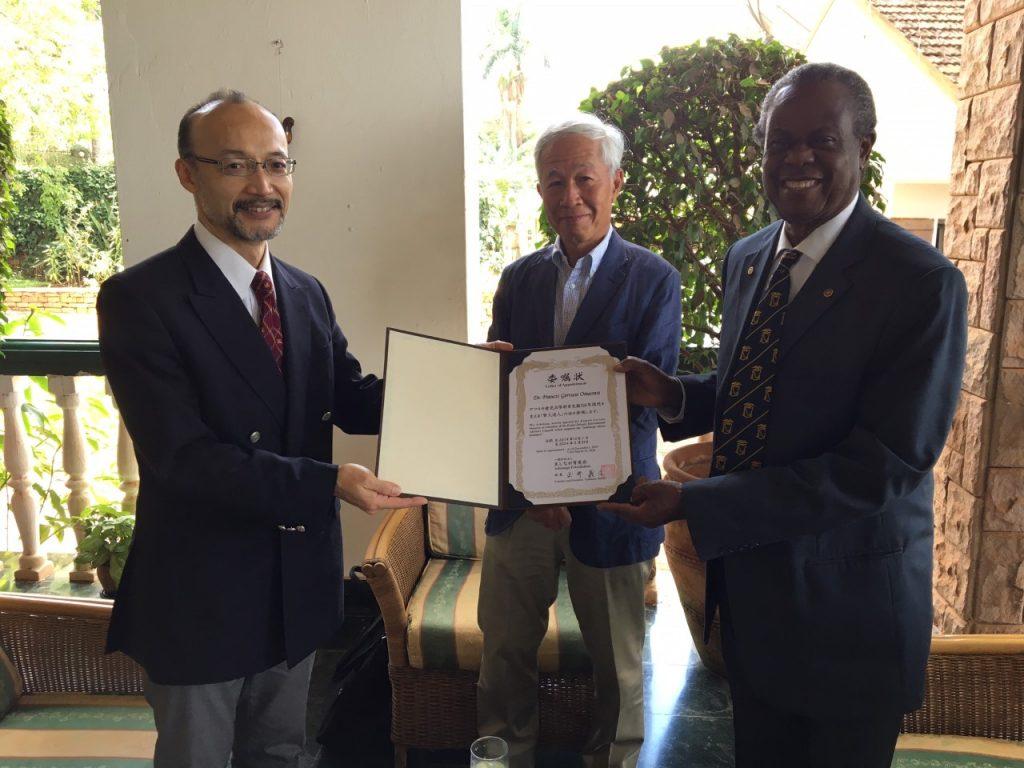 ウガンダの医療分野で活躍中のオマスワ博士が賢人達人会に加わりました