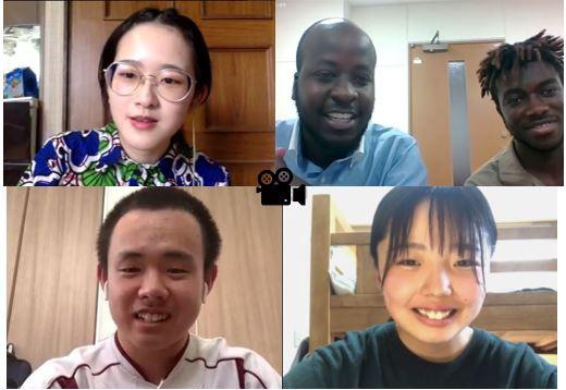 京都すばる高校と100年構想生らがオンライン連携授業